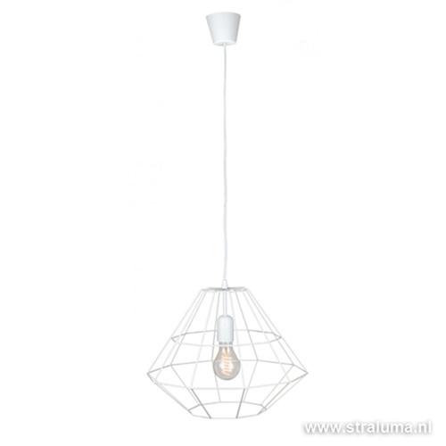 Scandinavische witte hanglamp Diamond