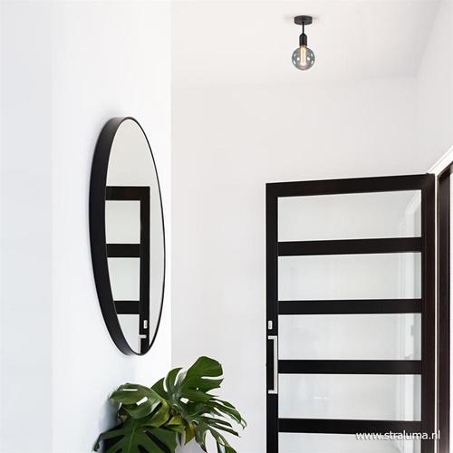 Plafondfitting basic zwart