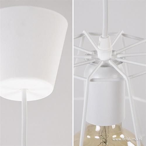 Kleine hanglamp draad wit wc,hal en bar