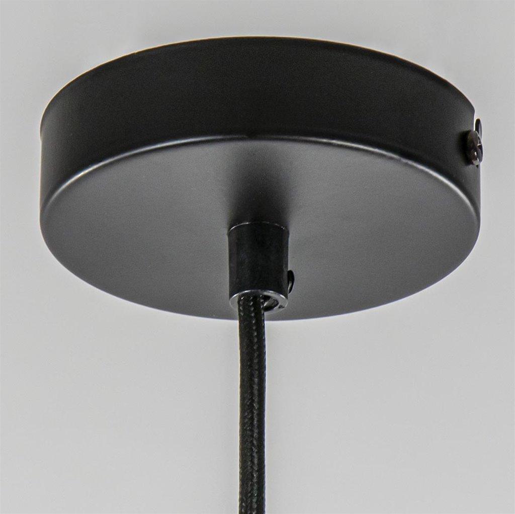 Zwarte draad hanglamp bol klein