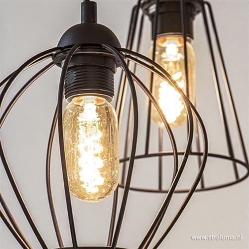 Draadhanglamp verschillende hoogtes