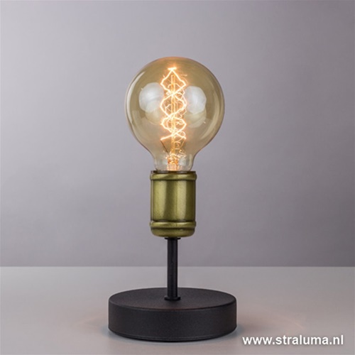 Klassiek-landelijke tafellamp brons