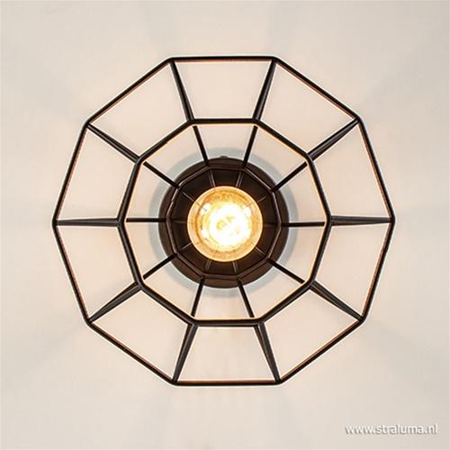 Plafondlamp diamond draad frame zwart