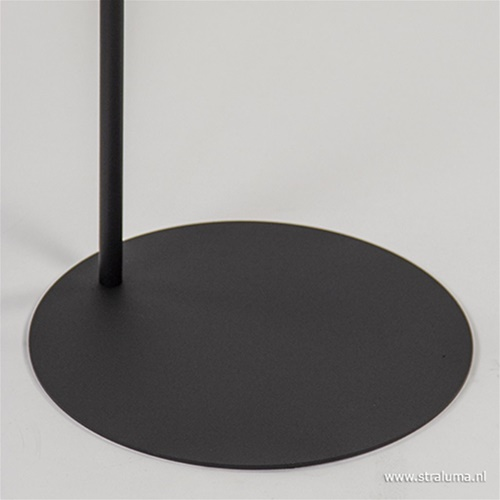 Draad vloerlamp zwart met korf