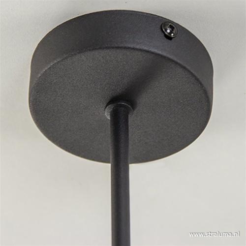 *Plafondlamp Fantasy 4-arms zwart