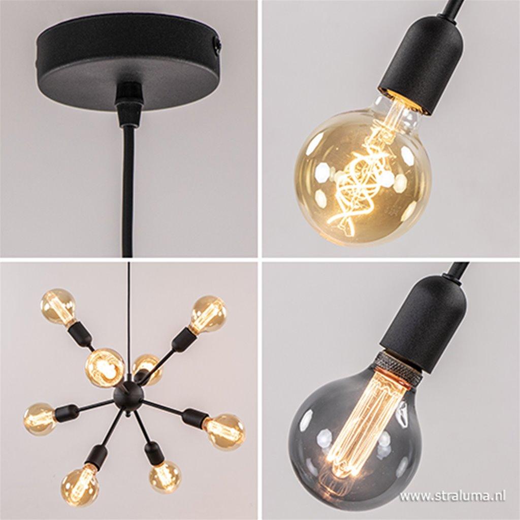 Moderne 8-lichts hanglamp excl lichtbron