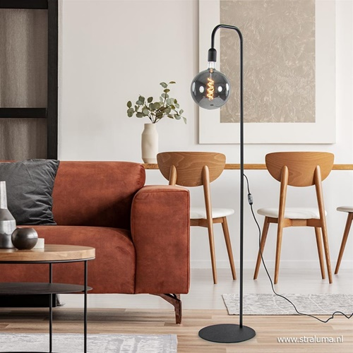 Moderne staande lamp mat zwart excl. lichtbron.