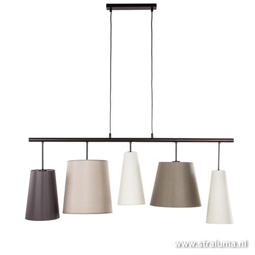 eettafel hanglamp verschillende kappen straluma