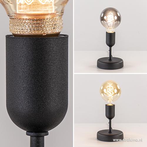 moderne tafellamp woonkamer zwart straluma