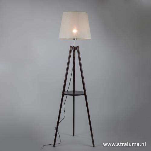 Klassieke driepoot vloerlamp woonkamer straluma - Klassieke vloerlamp ...