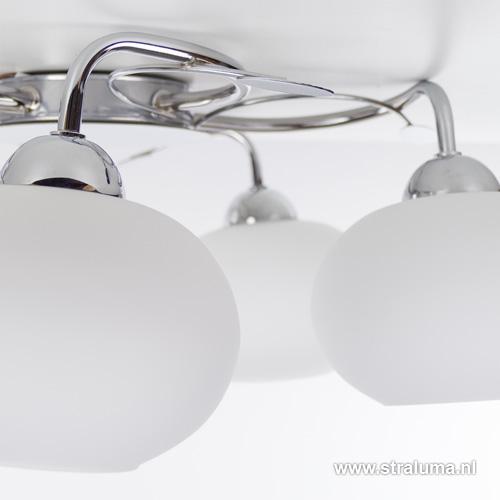 Strak klassieke plafondlamp slaapkamer | Straluma