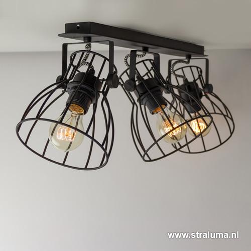 Industri le spot plafondlamp draad straluma for Industriele spots