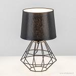 Draad tafellamp schemerlamp zwart straluma for Industriele schemerlamp