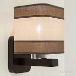*Bruine wandlamp hout met kap