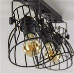Industriële spot-plafondlamp draad