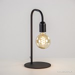 Landelijke tafellamp pendel mat zwart