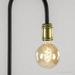 Zwarte staande lamp excl. lichtbron