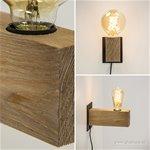 Sfeervolle houten wandlamp met zwart