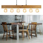 Landelijke hanglamp balk licht hout