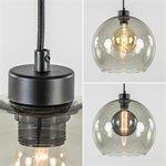 Trendy eettafel hanglamp met smoke glas