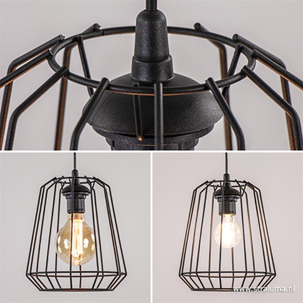 Wonderbaarlijk Zwarte hanglamp draad hal, keuken, bar | Straluma JF-84