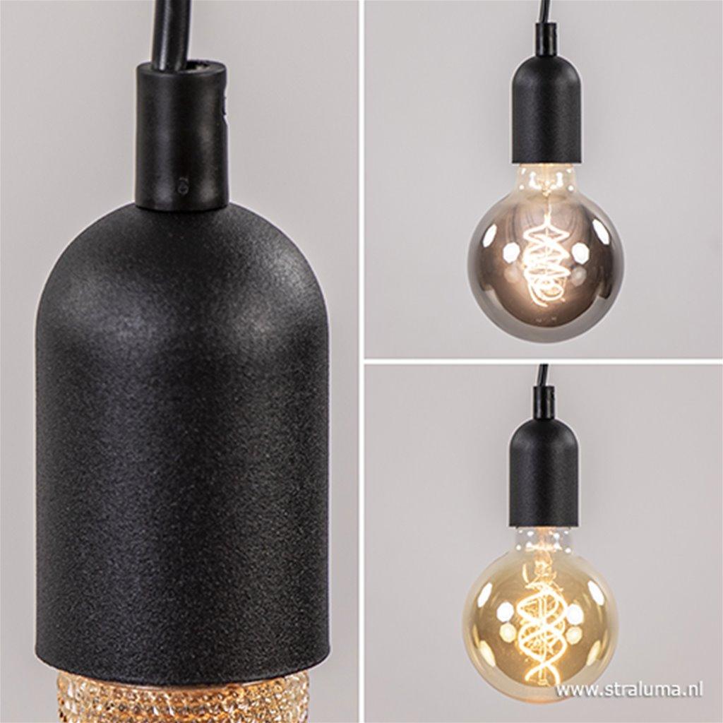Moderne pendel hanglamp zwart keuken