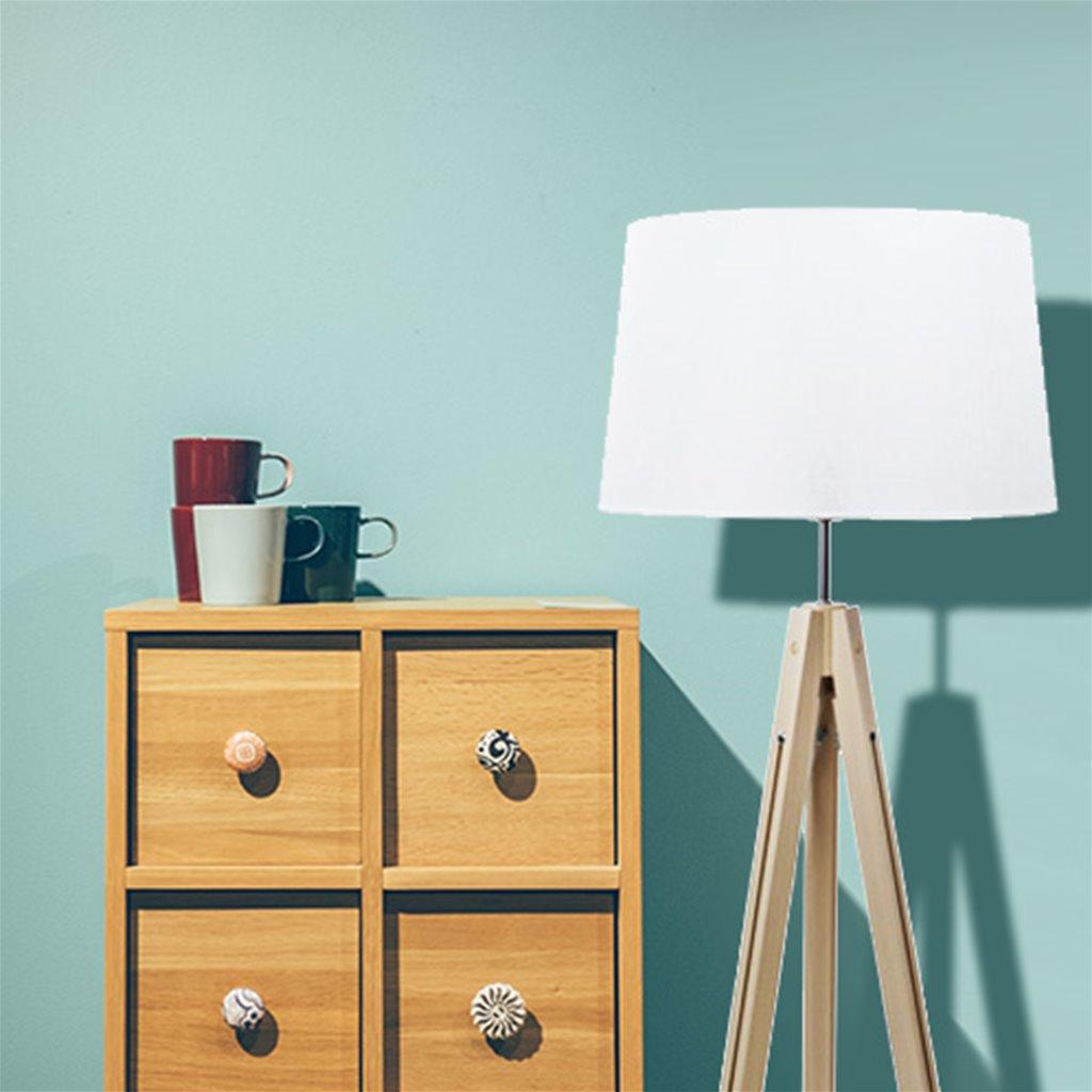 Scandinavische driepoot vloerlamp+kap