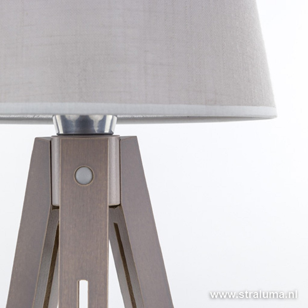 Landelijk houten tafellamp Lorenzo