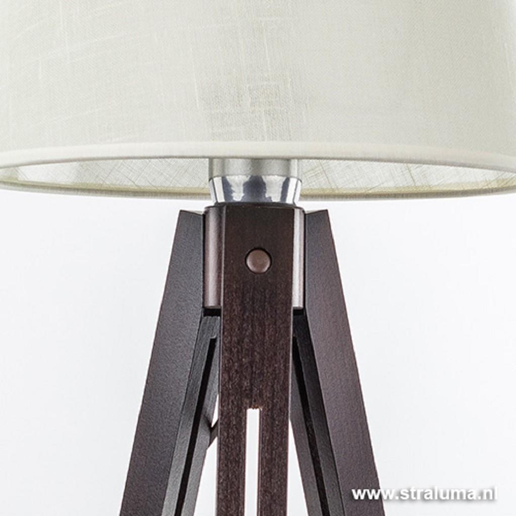 Landelijk tafellamp Lorenzo donker hout