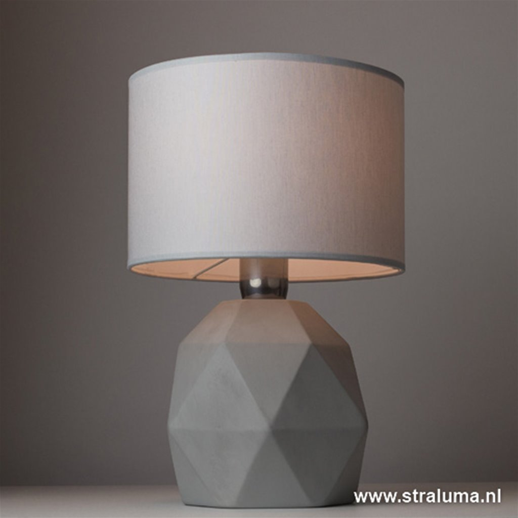 *Grijze tafellamp-schemerlamp steen
