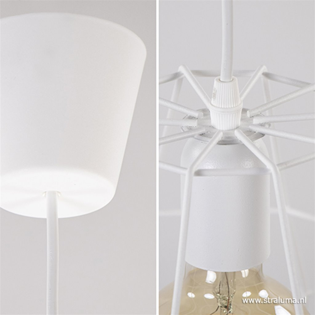 *Kleine hanglamp draad wit wc,hal en bar