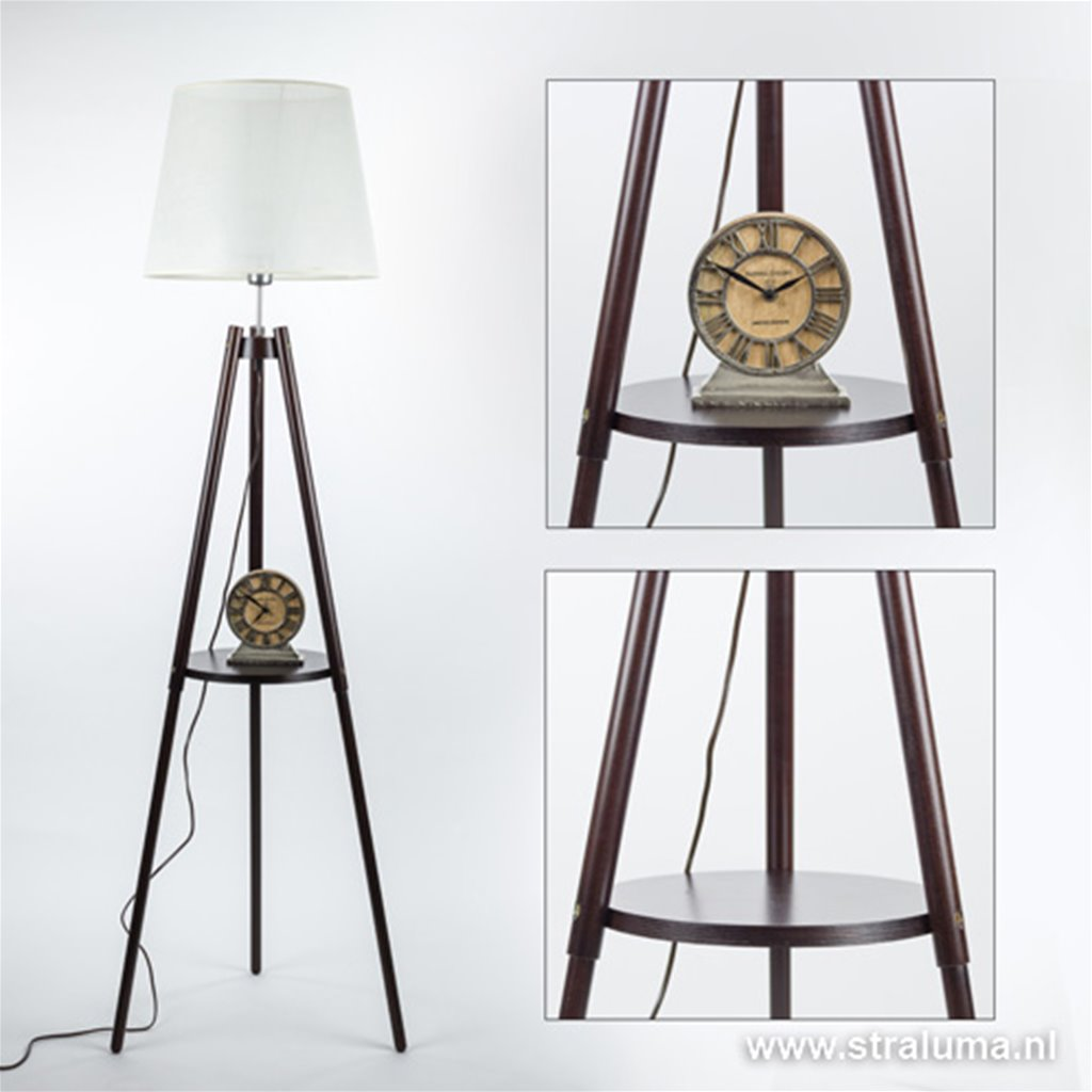 Klassieke driepoot vloerlamp woonkamer