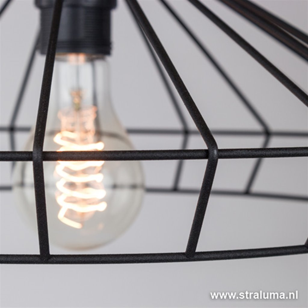 Zwarte hanglamp draad keuken