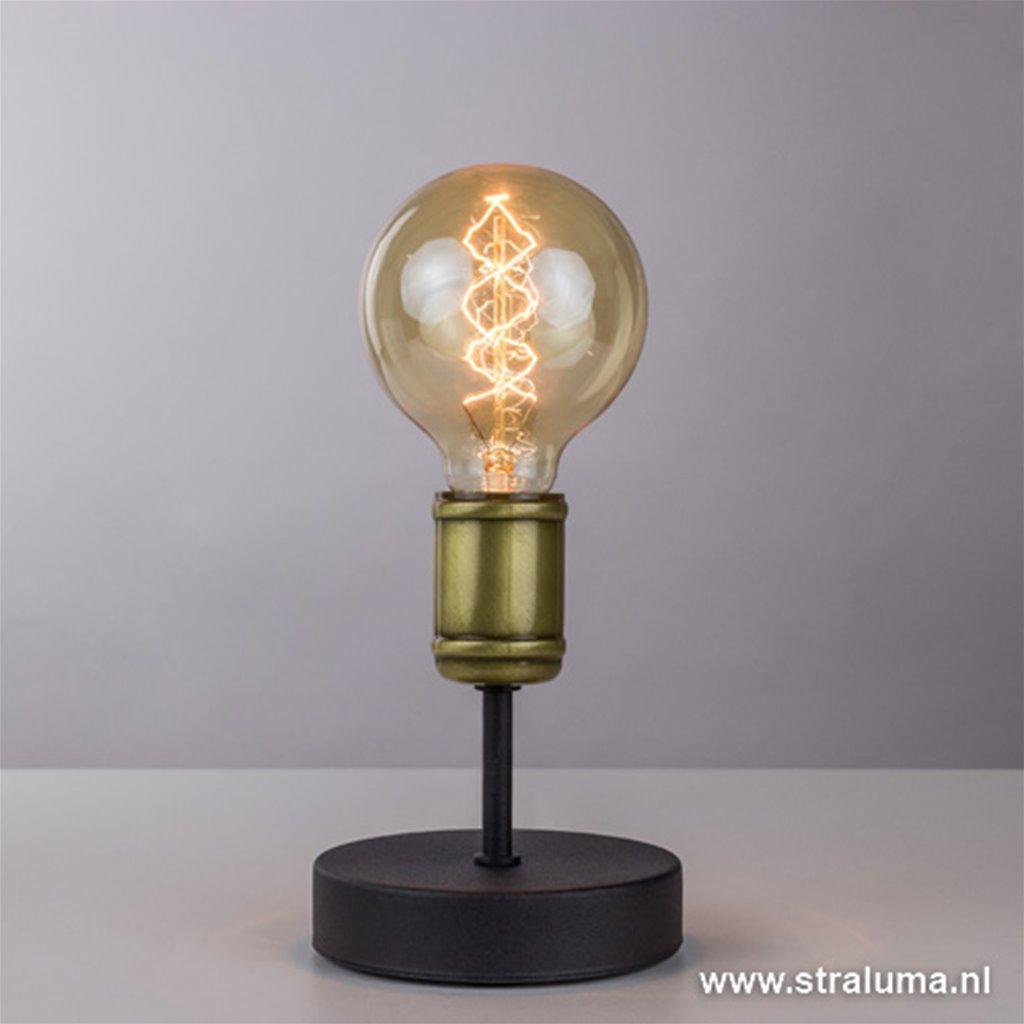 *Klassiek-landelijke tafellamp brons