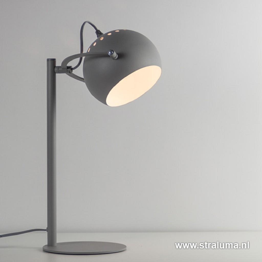 *Grijze tafellamp-bureaulamp-verstelbaar