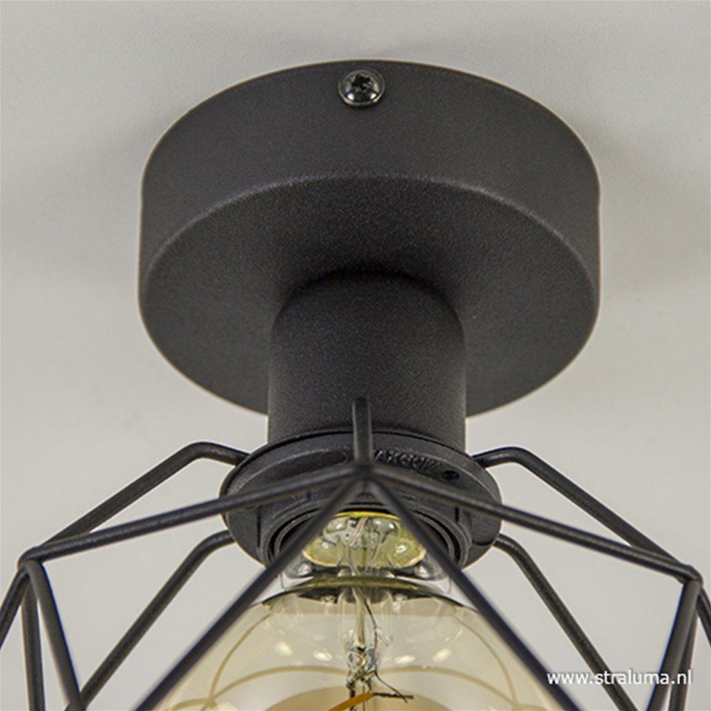 Plafondlamp Galaxy draad frame zwart