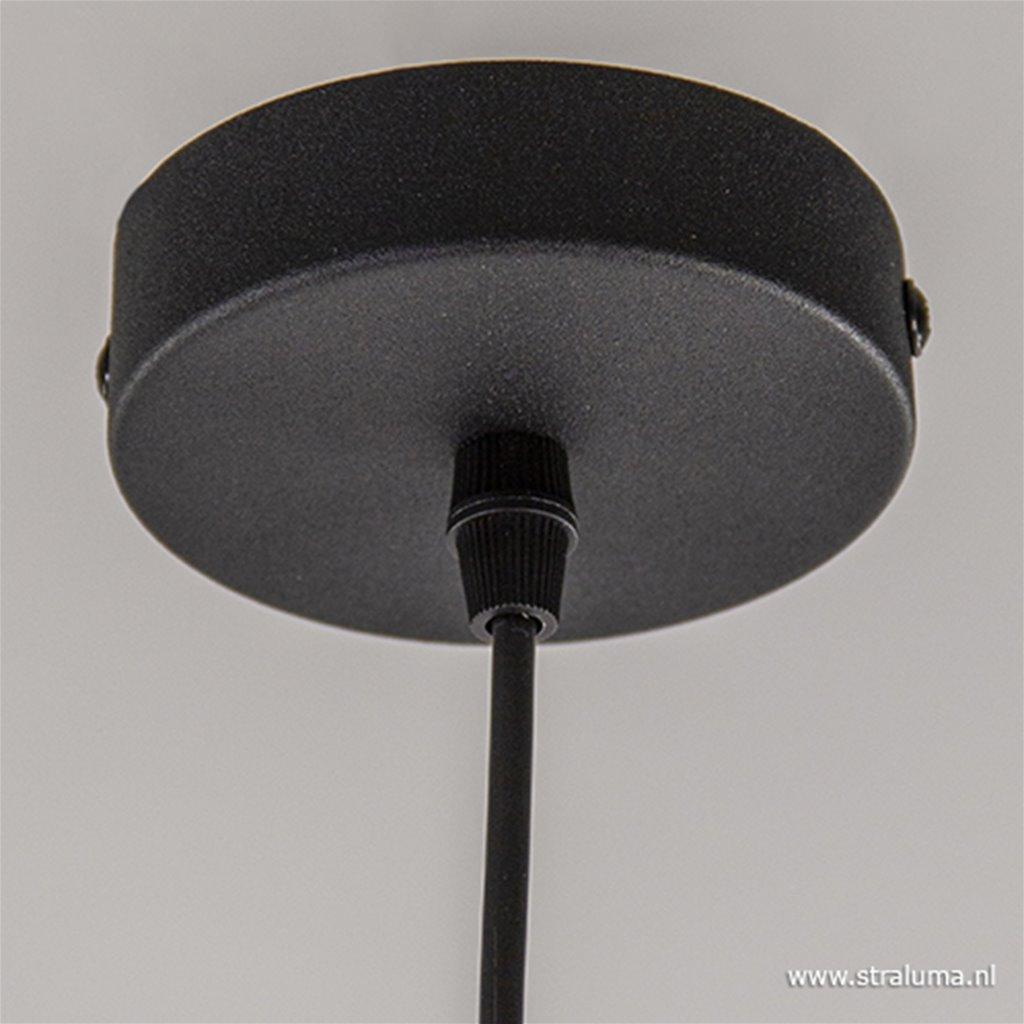 Trendy hanglamp met smoke glas 30 cm