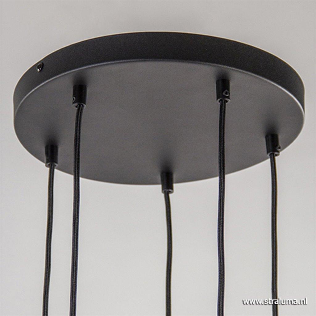 Sfeervolle vide hanglamp smoke glas