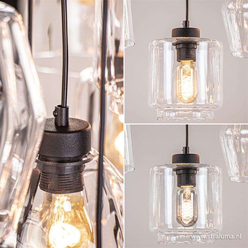 Moderne hanglamp 11-lichts helder glas