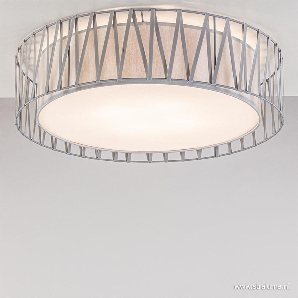 Grijze plafondlamp groot met blender