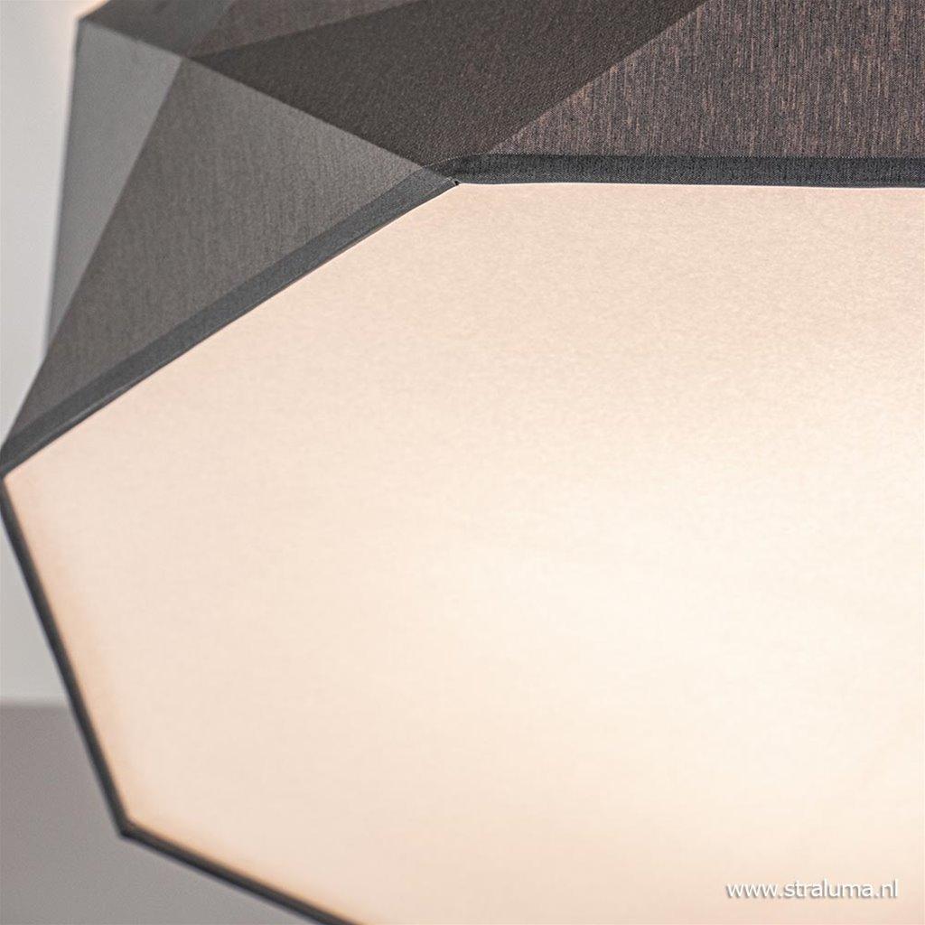Plafondlamp diamond stof grijs