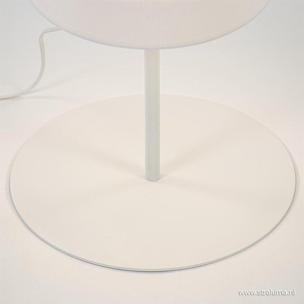 Moderne vloerlamp wit met grote stoffen kap