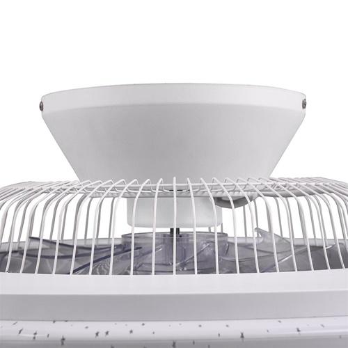 Moderne plafondventilator met dimbaar LED en remote