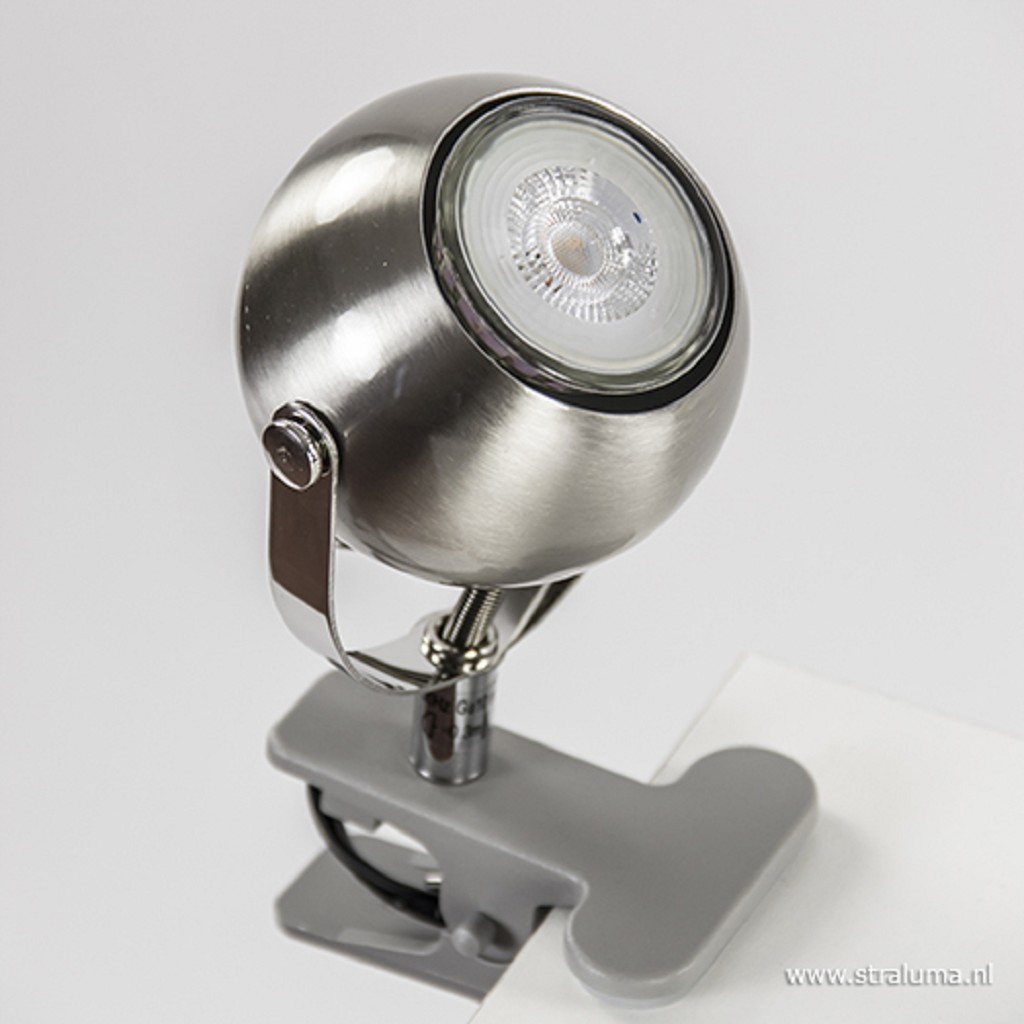 Moderne klemspot zilver verstelbaar