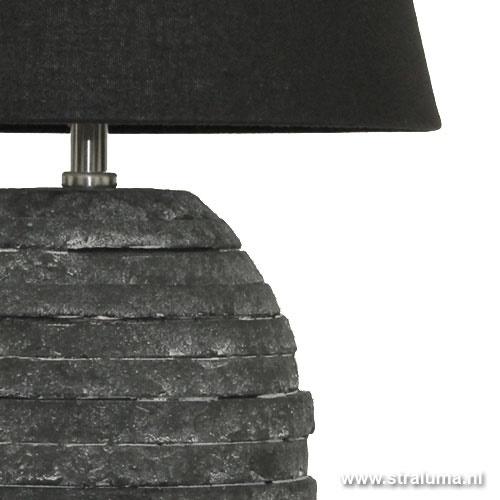 Trendy vaaslamp steen antraciet/zwart