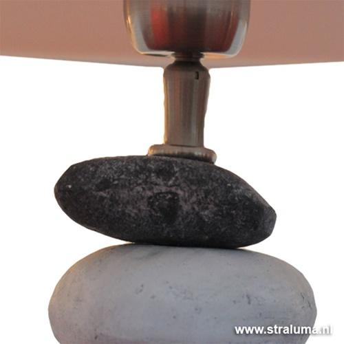 Tafellamp stenen grijs-wit aanbieding