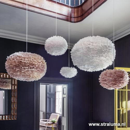 romantische hanglamp veren licht bruin straluma