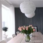 *Trendy hanglamp ganzenveren slaapkamer