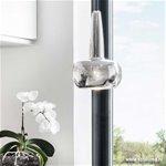 *Design hanglamp chroom Clava woonkamer