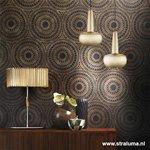 *Design hanglamp mat goud Clava woonk.